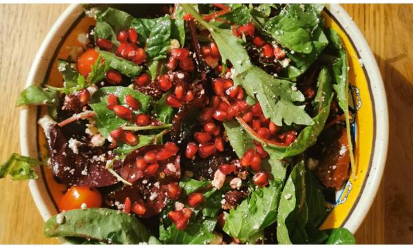 Pomegranate, Beetroot, Walnut & Feta Salad