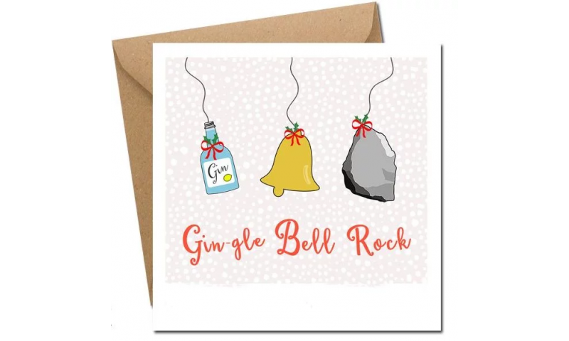 Lainey K Christmas Card: 'Gin-gle Bell Rock'