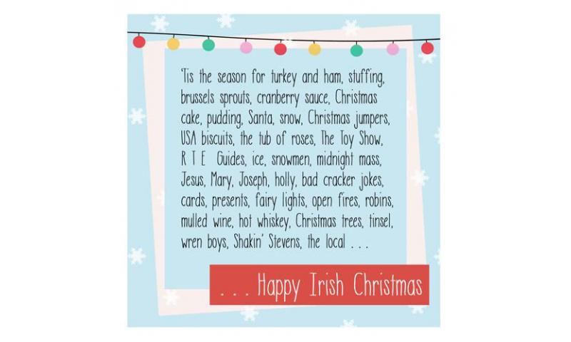 Lainey K Christmas Card: 'Happy Irish Christmas'