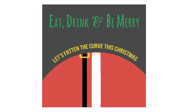 Lainey K Christmas Card: 'Lets Fatten The Curve'