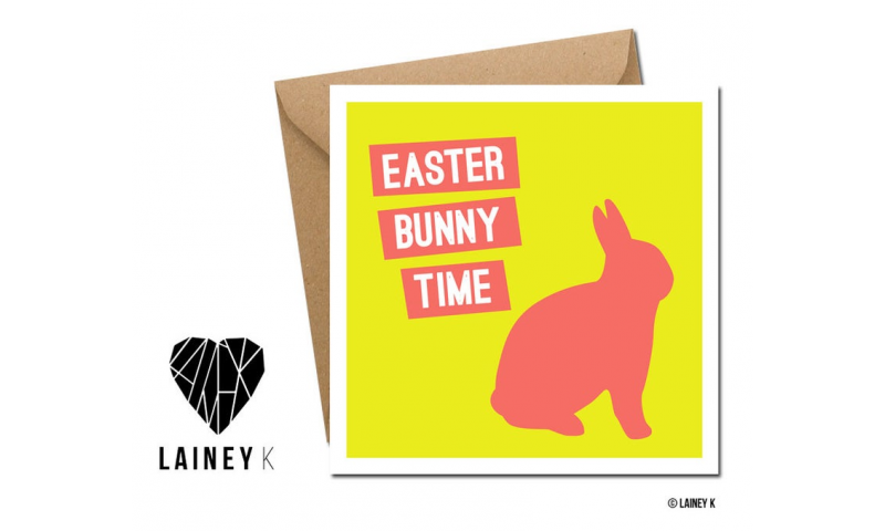 Lainey K Easter Card: 'Easter Bunny Time'
