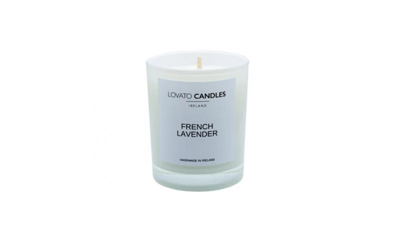 Lovato Small White Votive Candle - French Lavender