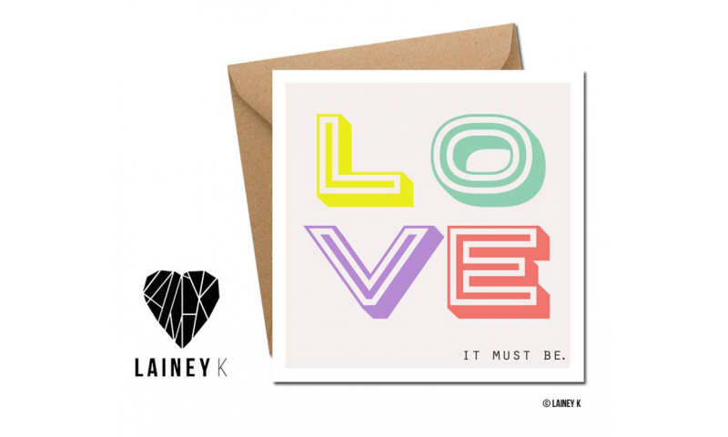 Lainey K Greeting Card: 'It Must Be Love'