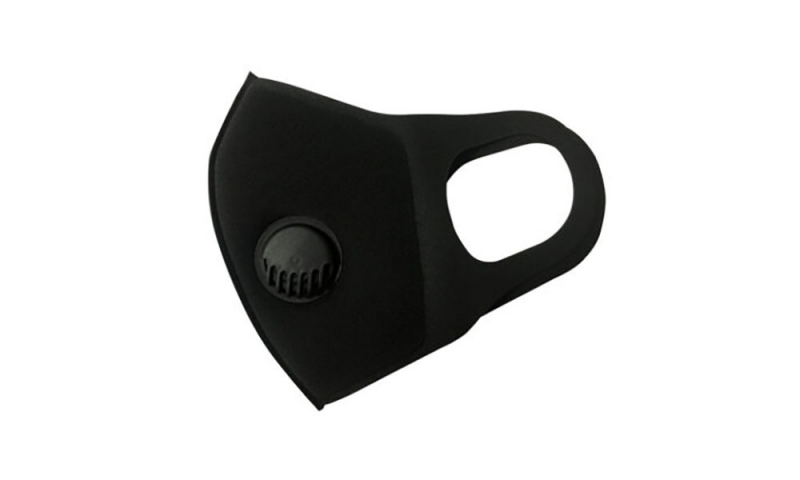 Face Covering - Reusable Black with vent