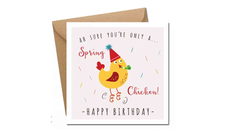 Lainey K Birthday Card: 'Spring Chicken' - Happy Birthday!