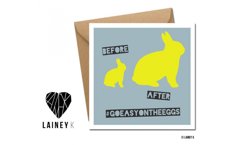 Lainey K Greeting Card: Before After - 'Go easy on the eggs'