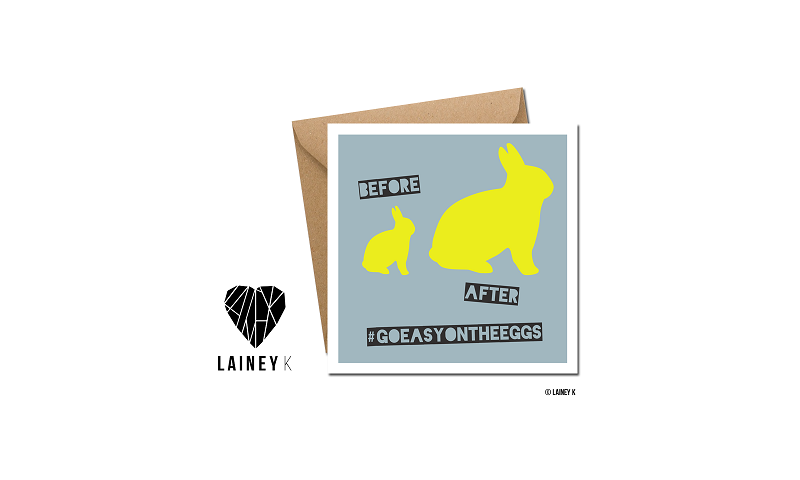 Lainey K Greeting Card: Before After - Go easy on the eggs