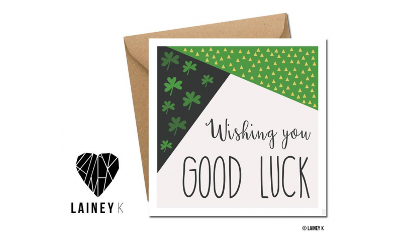 Lainey K Greeting Card: 'Wishing You Good Luck'