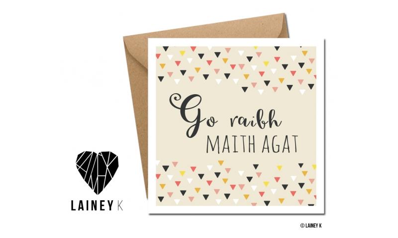 Lainey K Thank You Card: 'Go Raibh Maith Agat'