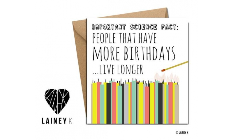 Lainey K Greeting Card: People That Have More Birthdays Live Longer!