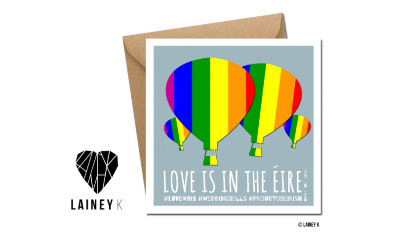 Lainey K Greeting Card: Love Is In The Eire