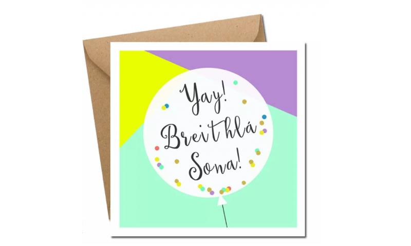 Lainey K Birthday Card: 'Breithlá Shona Duit'