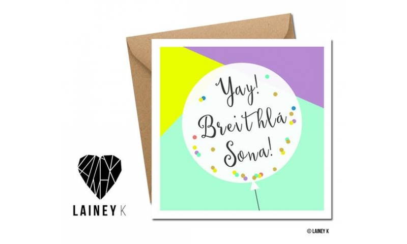 Lainey K Greeting Card: Nollaig Shona Duit