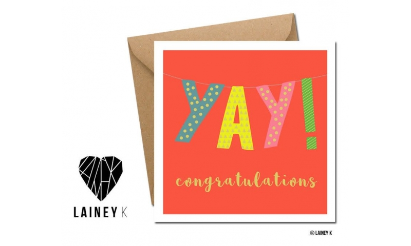 Lainey K Greeting Card: Yay! 'Congratulations'