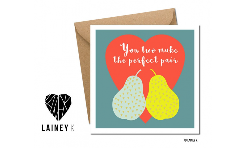 Lainey K Greeting Card: 'You Two Make The Perfect Pair'