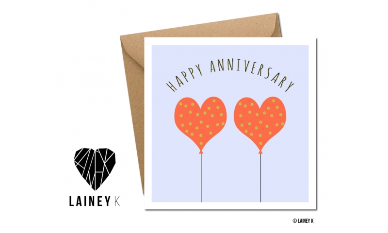Lainey K Greeting Card: 'Happy Anniversary'