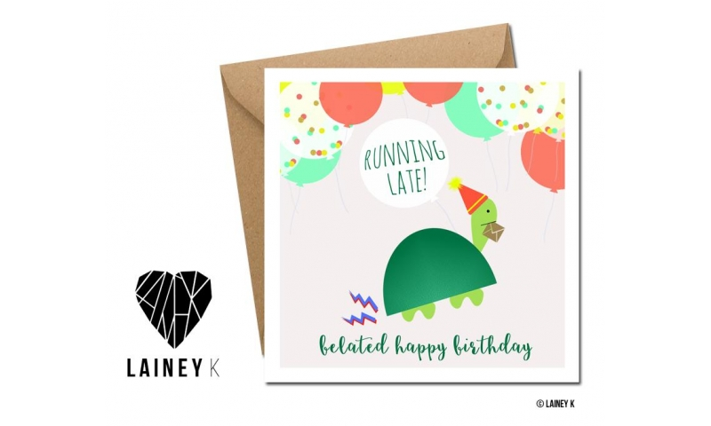 Lainey K Greeting Card: 'Happy Belated Birthday'