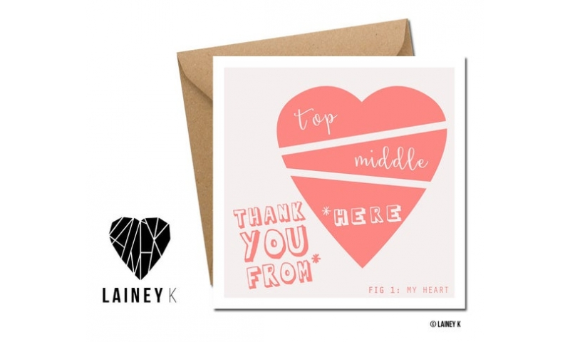 Lainey K Greeting Card: 'Thank You From The Bottom Of My Heart'