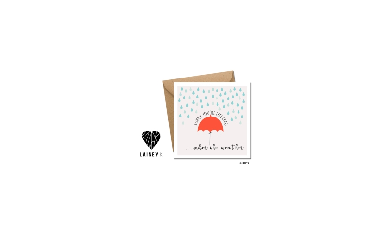 Lainey K Greeting Card: 'Under The Weather'