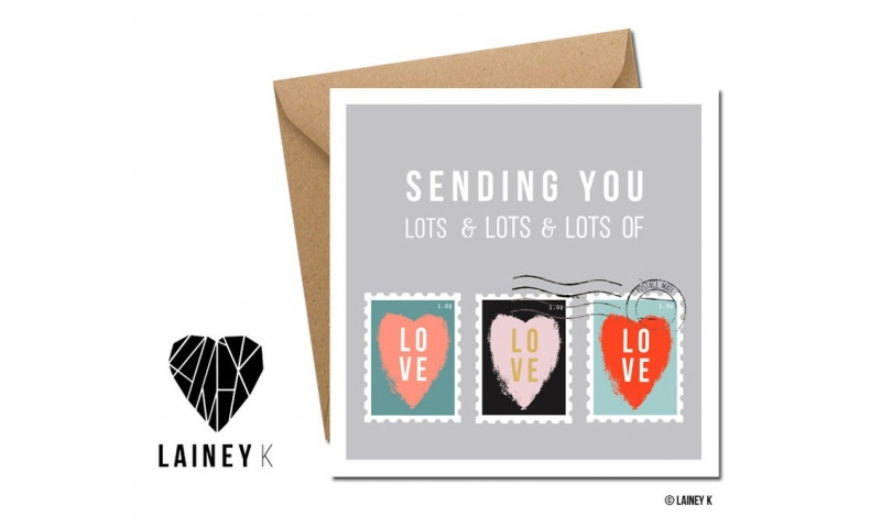 Lainey K Greeting Card: 'Sending You Lots of Love'