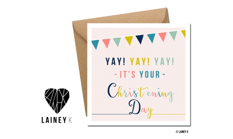 Lainey K Greeting Card: 'It's Your Christening Day'