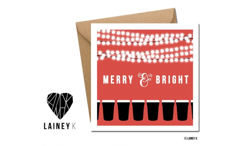 Lainey K Christmas Card - 'Merry And Bright'