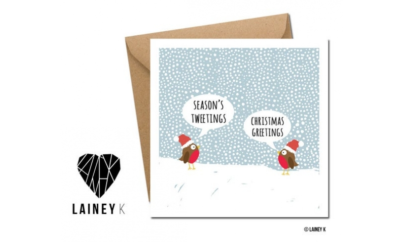Lainey K Christmas Card - 'Seasons Tweetings'