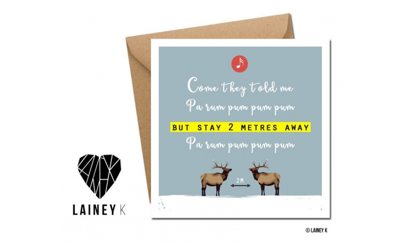 Lainey K Christmas Card - 'Come They Told Me....