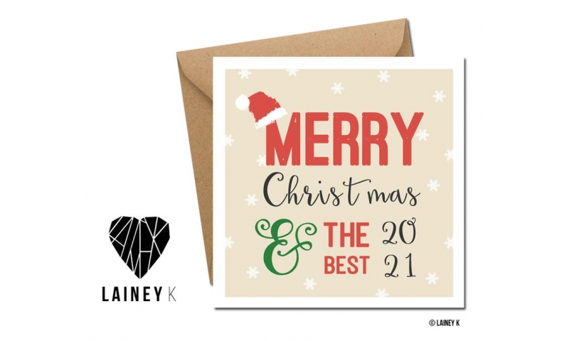 Lainey K Christmas Card 'Merry Christmas , Best For 2021'
