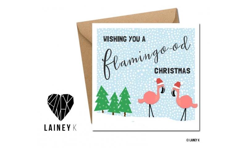 Lainey K Christmas Card 'Have A Flamingood Christmas!'
