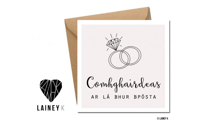Lainey K Greeting Card: 'Comhghairdeas Ar Lá Bhur Bpósta