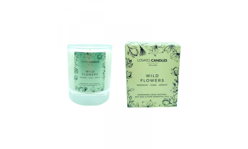 Wild Flowers - Lovato Boxed Clear Candle