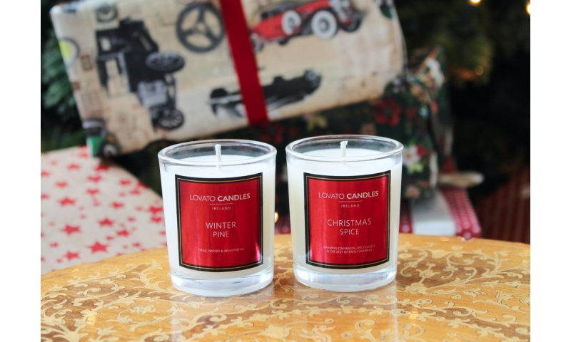 Lovato Small Votive Christmas Candle - Winter Pine