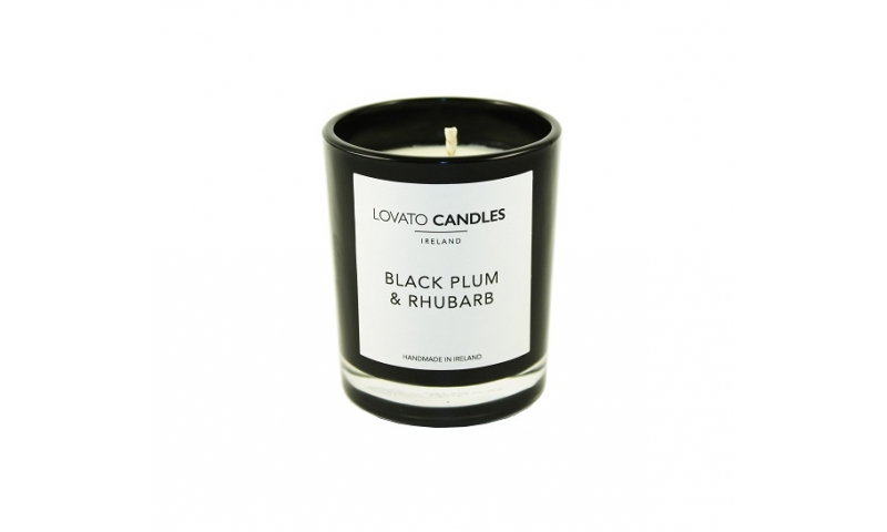 Lovato Small Black Votive - Black Plum & Rhubarb