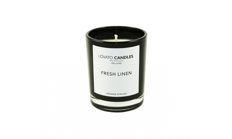 Lovato Small Black Votive - Fresh Linen