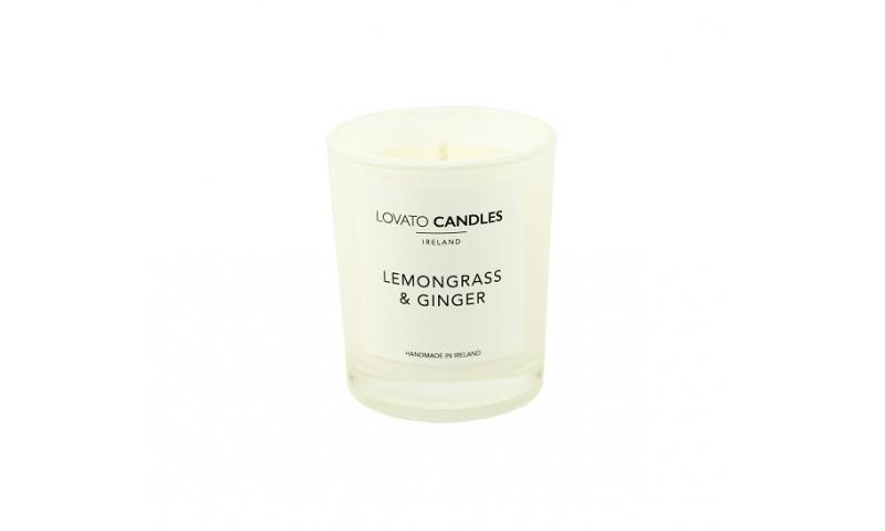 Lovato Small White Votive Candles - Lemongrass & Ginger