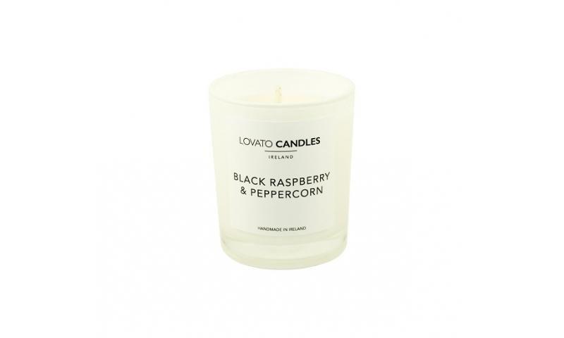 Lovato Small White Votive Candle - Black Raspberry & Peppercorn