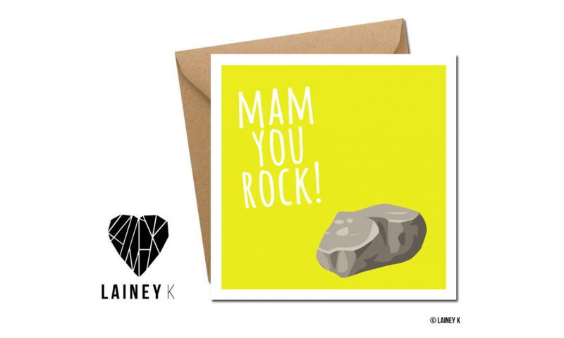 Lainey K Mothers Day Card: 'Mum You Rock'