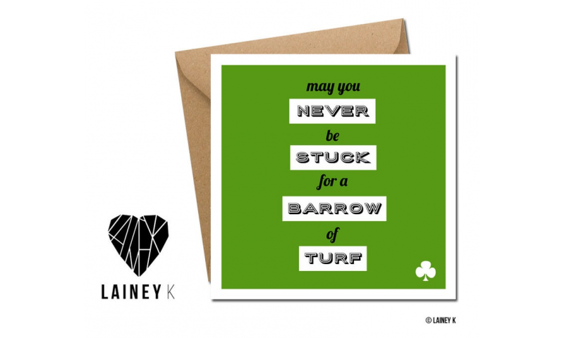 Lainey K St. Patricks Day Card: 'Turf' Quote