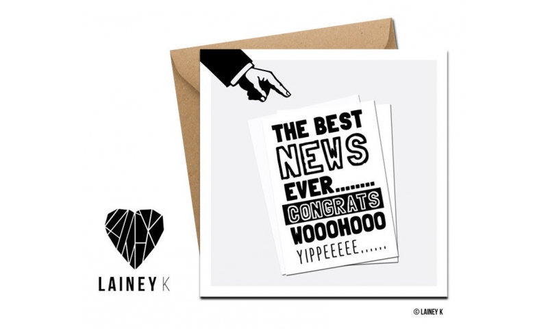 Lainey K Greeting Card: 'The Best News Ever'